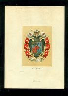 ARALDICA-HERALDRY-Aa- CROMOLIT.R. BULLA -ROMA-BADGES-STEMMI-COLONNA-CM.18 X 25 - Vecchi Documenti
