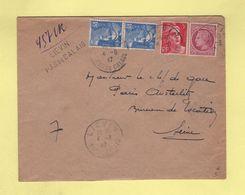 Lievin - Pas De Calais - Recommande Provisoire - 1947 - Postmark Collection (Covers)
