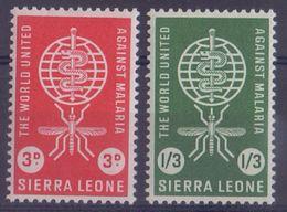 SIERRA LEONE :1962: Y.211-12 Dentelled/neufs/MNH : ## ERADICATION Of MALARIA ## :  PALUDISME,HEALTH,SANTÉ,INSECT, - Sierra Leone (1961-...)