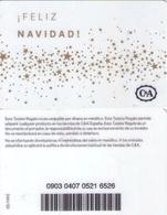 TARJETA REGALO DE ESPAÑA, GIFT CARD. C&A. 037. - Tarjetas De Regalo