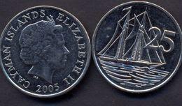 Cayman Islands 25 Cents 2005 UNC Ship - Cayman Islands