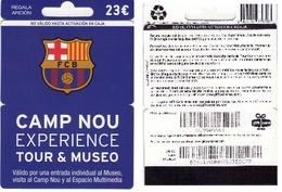 TARJETA REGALO DE ESPAÑA, GIFT CARD. FUTBOL, BARCELONA. 049. - Tarjetas De Regalo
