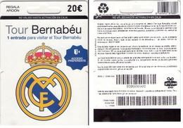 TARJETA REGALO DE ESPAÑA, GIFT CARD. FUTBOL, REAL MADRID. 050. - Tarjetas De Regalo