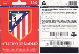 TARJETA REGALO DE ESPAÑA, GIFT CARD. FUTBOL, ATLETICO DE MADRID. 051. - Tarjetas De Regalo