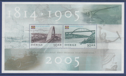 Sweden 2005 MNH Scott #2514 Sheet Of 2 10k Dissolution Of Sweden-Norway Union Joint With Norway - Emissions Communes