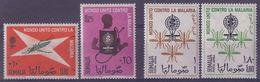 SOMALIA :1962: Y.22-23 & PA18-19 Dentelled/avec Trace De Charnière/hinged:## MALARIA ERADICATION CAMPAIGN ##:PALUDISME, - Somalie (1960-...)