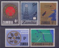 ZAMBIA :1967: Y.34-38 Dentelé/neuf/MNH : ## NATIONAL DEVELOPMENT ## :  AGRICULTURE,YOUTH,COAL,RADIO,TELEVISION, - Zambie (1965-...)