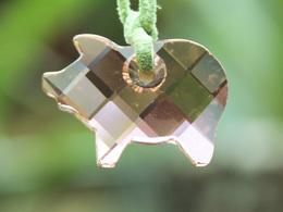 Bijoux-pendentif-20-SWAROVSKI En Forme De Cochon Rose - Pendentifs