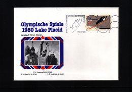 USA 1980 Olympic Games Lake Placid Interesting Cover - Winter 1980: Lake Placid
