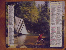 Ancien Calendrier Almanach P.T.T. La Poste 1988 - Big : 1981-90