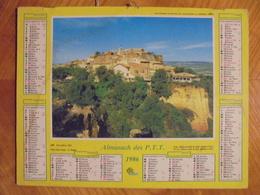 Ancien Calendrier Almanach Des P.T.T. 1986 - Big : 1981-90