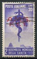 Italy (Trieste) 1949 20 L Staff And Globe Issue #49 - 7. Trieste