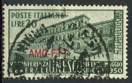 Italy (Trieste) 1950 20 L Pitti Palace Issue #72 - 7. Trieste