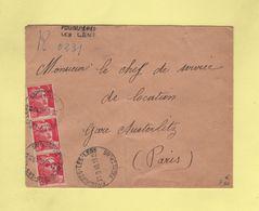 Fouquieres Les Lens - Pas De Calais - Recommande Provisoire - 1946 - Marianne De Gandon - Postmark Collection (Covers)