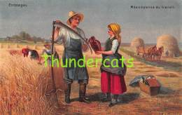 CPA ERNTESEGEN RECOMPENSE DU TRAVAIL AGRICULTEUR - Farmers