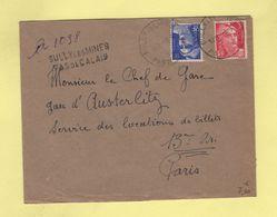 Bully Les Mines - Pas De Calais - Recommande Provisoire - 1946 - Marianne De Gandon - Postmark Collection (Covers)