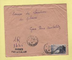 Harnes - Pas De Calais - Recommande Provisoire - 1947 - Marianne De Gandon - Postmark Collection (Covers)