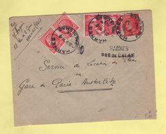 Harnes - Pas De Calais - Recommande Provisoire - 1946 - Postmark Collection (Covers)