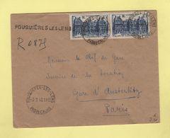 Fouquieres Les Lens - Pas De Calais - Recommande Provisoire - 1948 - Postmark Collection (Covers)