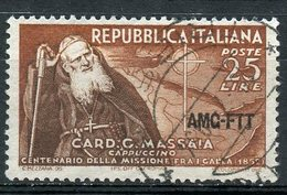 Italy (Trieste) 1952 25 L Massaia Issue #156 - 7. Trieste