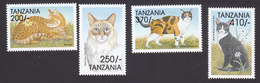 Tanzania, Scott #1800-1803, Mint Hinged, Cats, Issued 1999 - Tanzanie (1964-...)