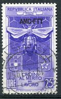 Italy (Trieste) 1953 25 L Bee And Honeycomb Issue #167 - 7. Trieste