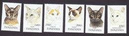 Tanzania, Scott #1804-1809, Mint Hinged, Cats, Issued 1999 - Tanzania (1964-...)