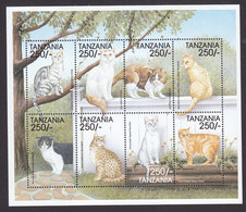 Tanzania, Scott #1810, Mint Never Hinged, Cats, Issued 1999 - Tanzania (1964-...)