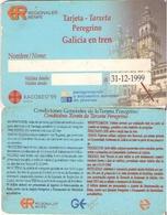 TARJETA DE ESPAÑA, TARJETA DE PEREGRINO, GALICIA EN TREN. 053. - Ferrocarril