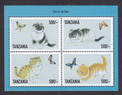 Tanzania, Scott #1813, Mint Never Hinged, Cats, Issued 1999 - Tanzania (1964-...)