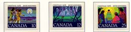 PIA - CANADA  - 1977   : Natale   -  (Yv 643-45) - 1952-.... Regno Di Elizabeth II