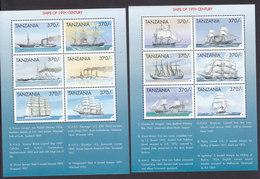 Tanzania, Scott #1819-1820, Mint Never Hinged, Ships, Issued 1999 - Tanzania (1964-...)