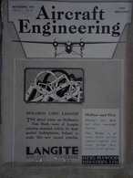 AVIATION - Lot 6 Revues AIRCRAFT ENGINEERING 1932-33 En Anglais AVIONS - Transports