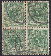 REICH GERMANIA - ALLEMAGNE -  1889 - Quartina Obliterata Di Yvert 46. - Usati