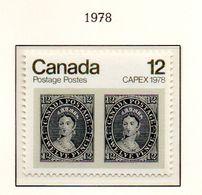 """PIA - CANADA - 1978 : """"Capex 78"""" - Esposizione Filatelica Internazionale A Toronto - (Yv  655) - 1952-.... Regno Di Elizabeth II"""