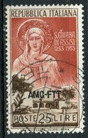 Italy (Trieste) 1953 25 L St Claire Of Assis Issue #169 - 7. Trieste