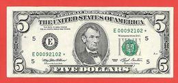 STARNOTE ° 5 US-Dollar 1993 ° 1.920.000 RunSize ° Sehr Guter Zustand ° E00092102* ($006-05) - RAR Very Small Number - Abarten