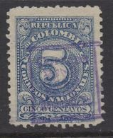 A129- COLOMBIA - 1909 . SC#: L18 - DEPARTMENT STAMP OVPTD- USED- - Colombia