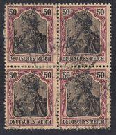 GERMANIA REICH - 1902 - Quartina Obliterata Di Yvert 74. - Usati