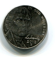 2012-D  USA 5c  Coin - Federal Issues