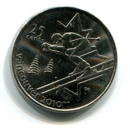 2007 Canada Vancouver 2010 Winter Olympics Commemorative 25c Coin - Canada