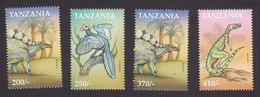 Tanzania, Scott #1830-1833, Mint Hinged, Dinosaurs, Issued 1999 - Tanzanie (1964-...)