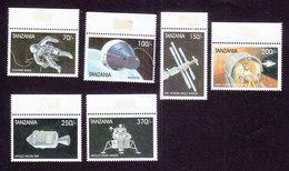 Tanzania, Scott #1839-1844, Mint Hinged, Space, Issued 1999 - Tanzania (1964-...)