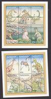Tanzania, Scott #1834-1835, Mint Never Hinged, Dinosaurs, Issued 1999 - Tanzania (1964-...)