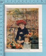 1953 Miniature -Chromo-litho  - Two Sisters Aka On The Terrace , Pierre Auguste Renoir-  Sur Papier Couché - Lithographies