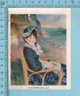 1953 Miniature -Chromo-litho - By The Sea Shore, Auguste Renoir- Sur Papier Couché - Lithographies