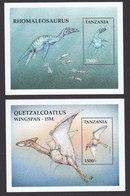 Tanzania, Scott #1836-1837, Mint Never Hinged, Dinosaurs, Issued 1999 - Tanzania (1964-...)