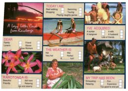 (25) Cook Island - Lazy Letter Postcard - Cook