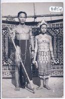 BRUNEI- SERIA- CARTE-PHOTO-  CHEF LOCAL  ET SA JEUNE ET JOLIE EPOUSE- RECT/VERSO - Brunei