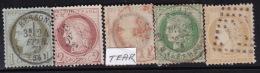Divers Annuler Lot Sur Ceres Perforé #25 - Marcophily (detached Stamps)
